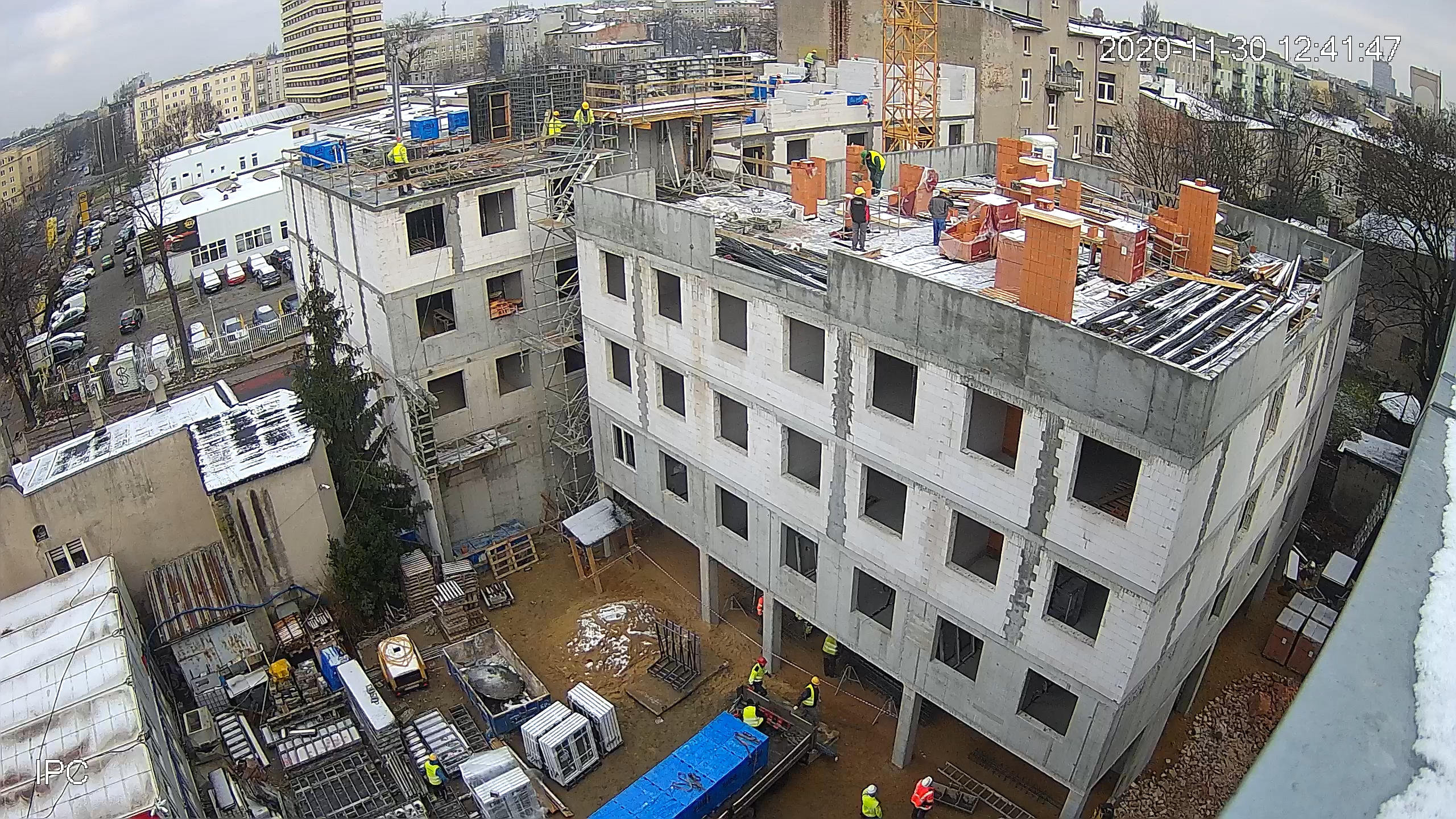Widok z budowy - Miniakademik